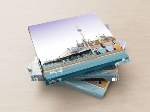Brighton Skyline Purple - Glass Coasters